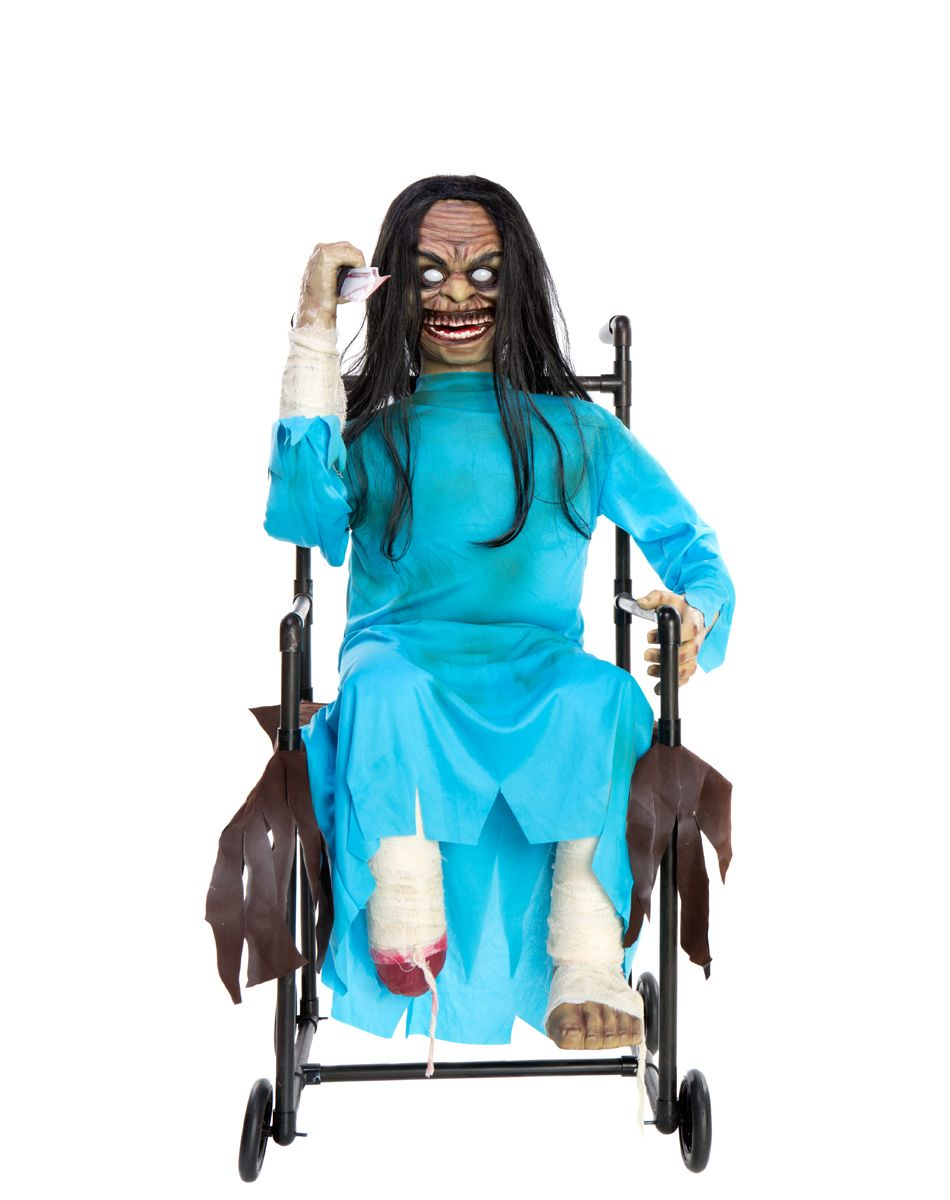 wheelchair psycho animated decoration from spirit halloween on shop your personal digital mall - Spirit Halloween Decorations