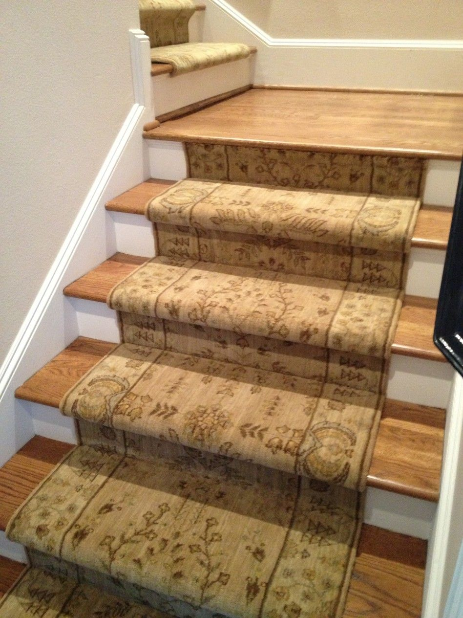 Decoration Carpet Runner Motive And Site Finished Stair