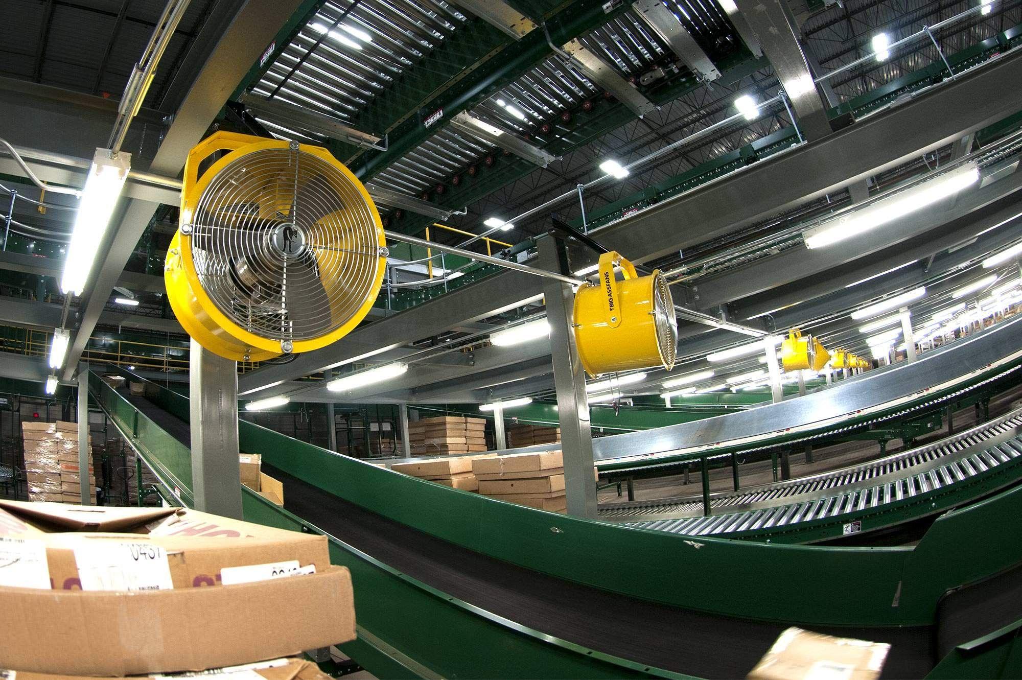 Pivoting Wall Fans Fix Kohl S Distribution Center Airflow Big Ass