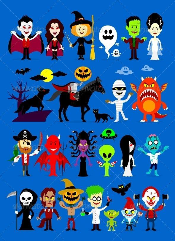 Monsters Mash Halloween Characters Halloween Cartoons Halloween