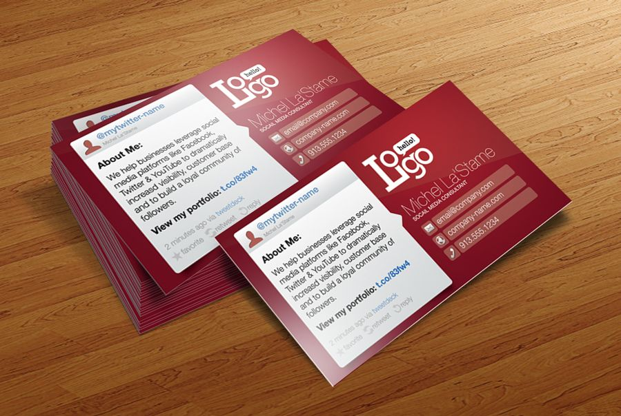 FREE Social Media Business Card Template by CursiveQ-Designs ...