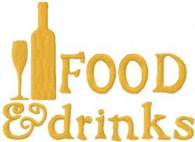 Food and Drink free machine embroidery design. Machine embroidery design. www.embroideres.com