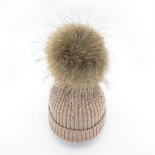 1137621573839 Lanxxy 2016 New Women Winter Hats Real Mink Fur Pom Poms Hat Girls Cotton  Knitted Skullies Beanies Caps Fur Pompom Hats Bonnet