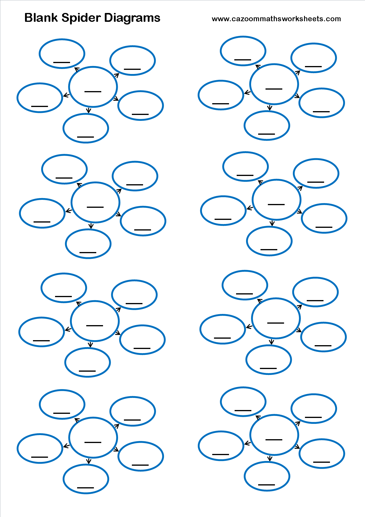 Predownload: Blank Spider Diagrams Math Worksheet Math Resources Math Worksheets [ 1754 x 1240 Pixel ]