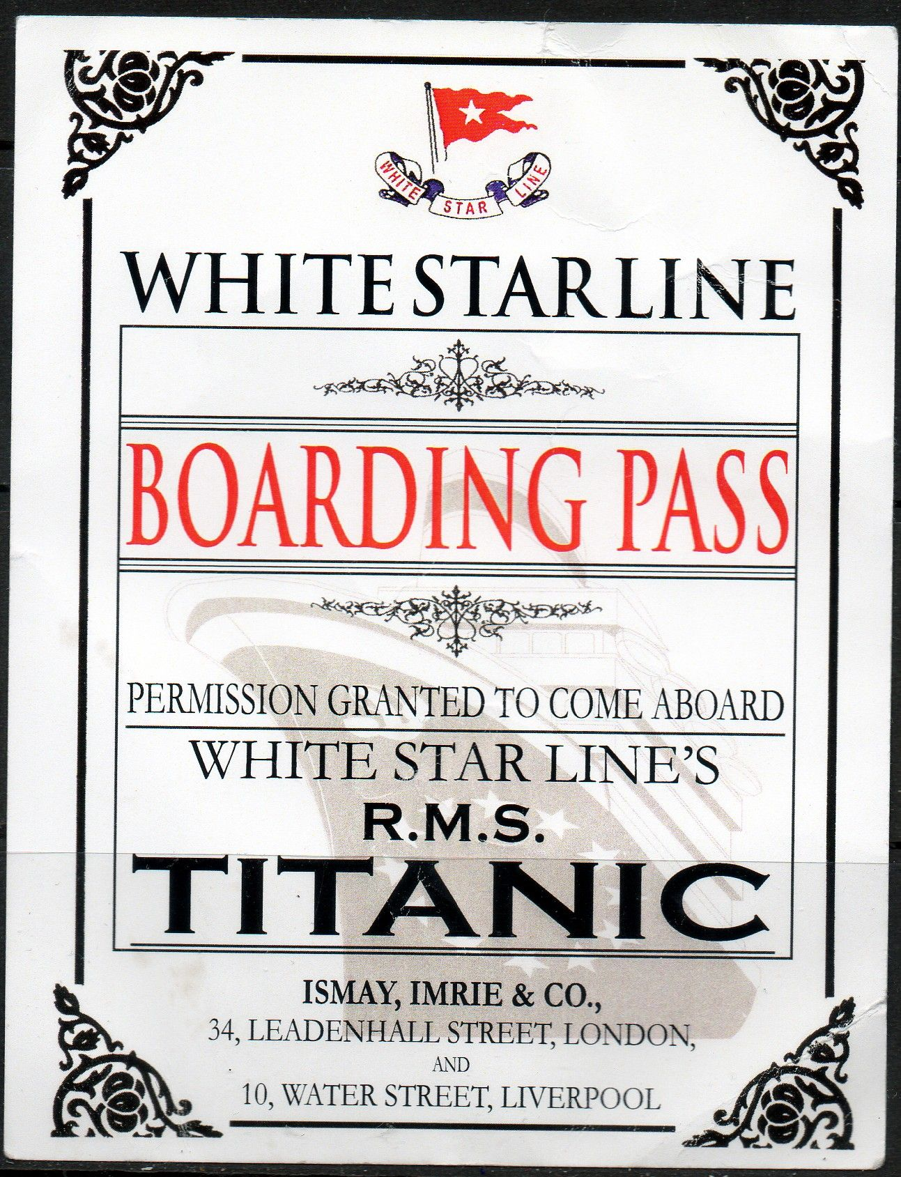 Titanic Ticket Template