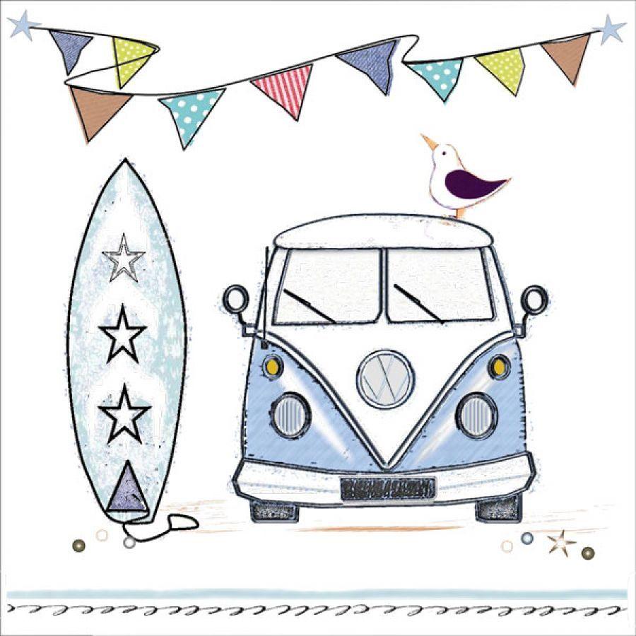 34c1824ee3 Blank Greetings Card ~ VW Camper Van