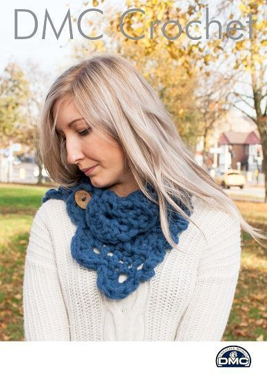 Shell Snood Crochet Pattern Using Dmc Cocoon A Wonderful Super Chunk