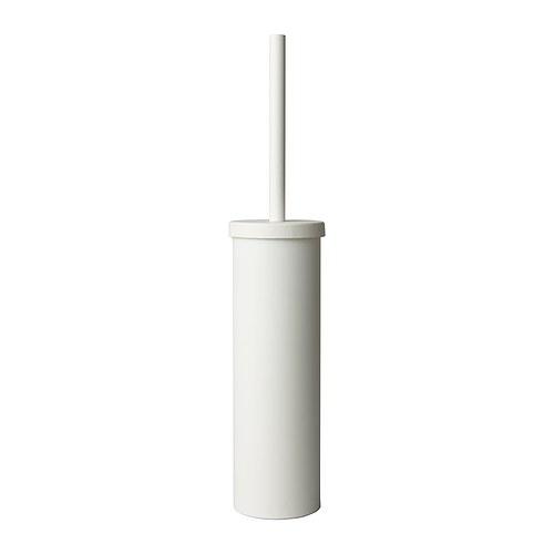 While Ikea BOLMEN toilet brush holder White