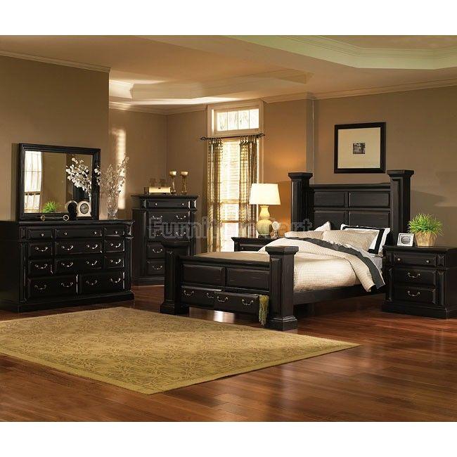 Torreon Poster Storage Bedroom Set (Antique Black). I need this ...