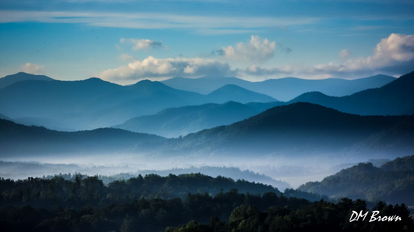 Dawn Over The Great Smokey Mountains David Brown Photography Landscape Art Travel Circleville Oh Smokey Mountains Landscape Photography Blue Aesthetic