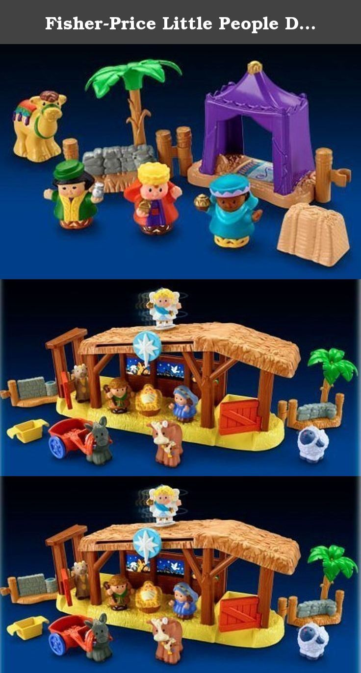 Fisher Price Little People Deluxe Christmas Story Nativity Set With