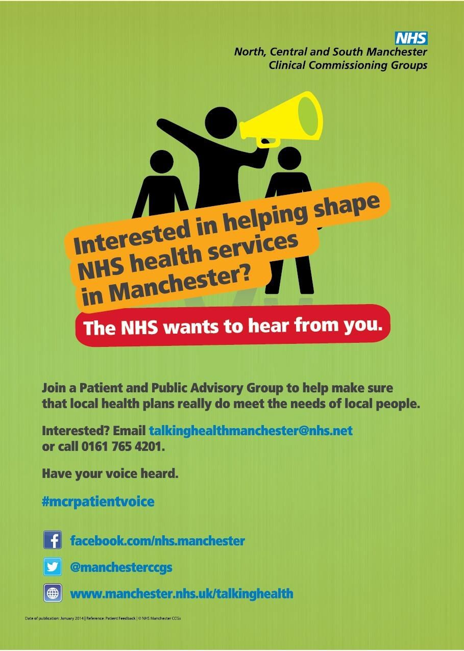 Interested in helping shape NHS health services in