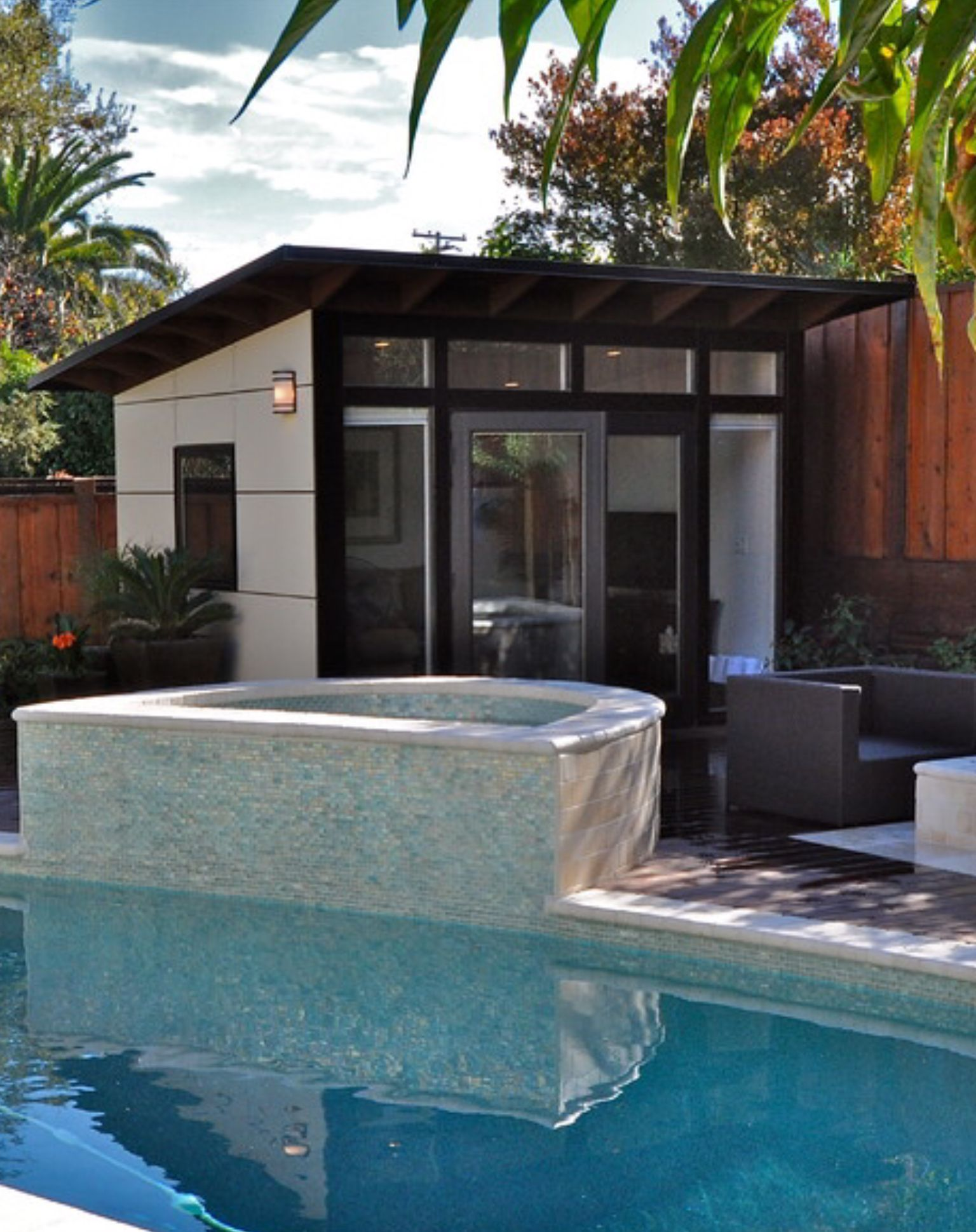 10x16 Modern Pool House Casita Guest House Pool Houses Pool