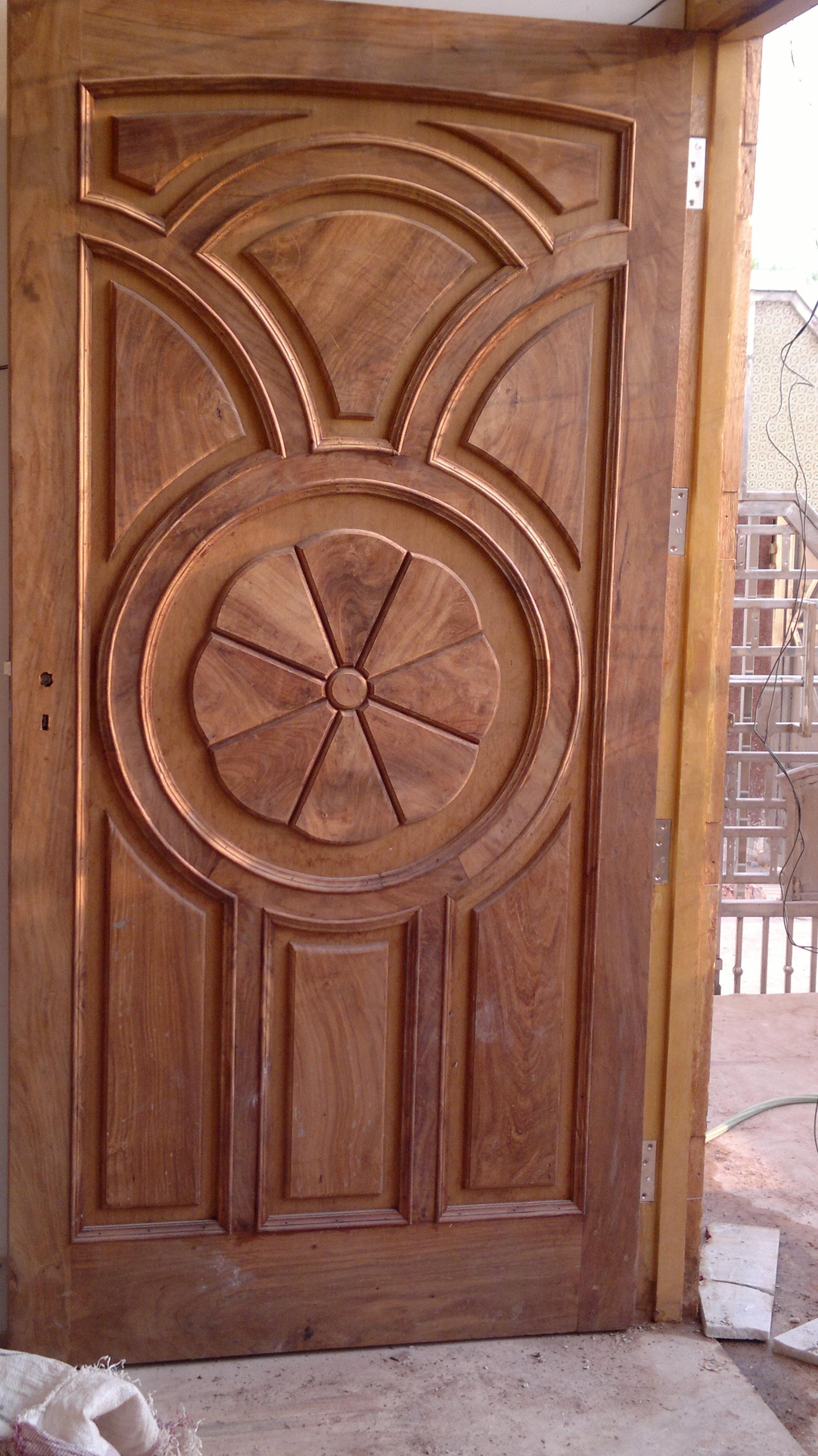 Wooden Door The Door Is Not Just The Piece Of Furniture It Is An Element Of Design It Also Single Door Design Single Main Door Designs Wooden Main Door Design