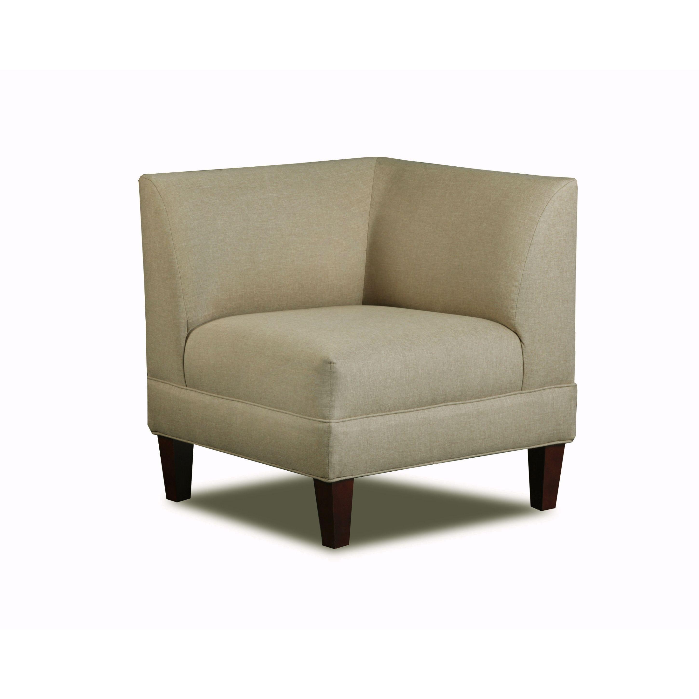 Carolina Accents Briley Sand Corner Chair Sand Ivory Cream