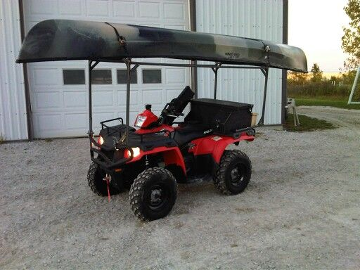 polais sportsman 500h.o. homemade canoe rack for hunting ...