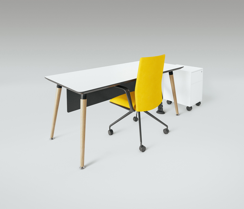 Scando Single Office Desk By Ergolain | Individual Desks