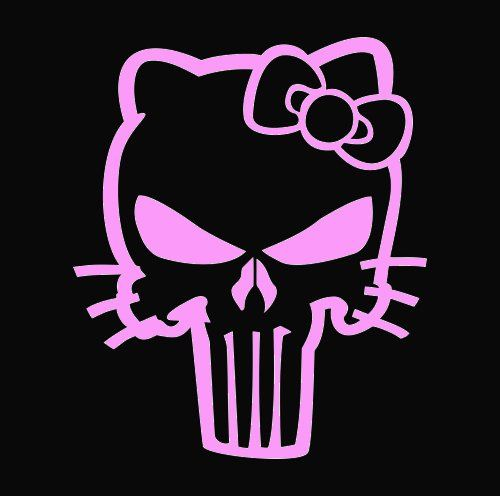 Punisher license plate tag pink