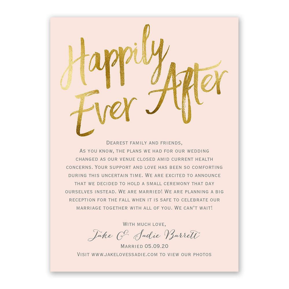 Happily Ever After Wedding Announcement Ann S Bridal Bargains Your Wedding Ceremony In 2020 Wedding Announcements Cheap Wedding Announcements Ann S Bridal Bargains