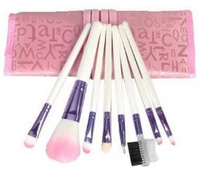 hot 8 piece makeup brush set 334  free shipping