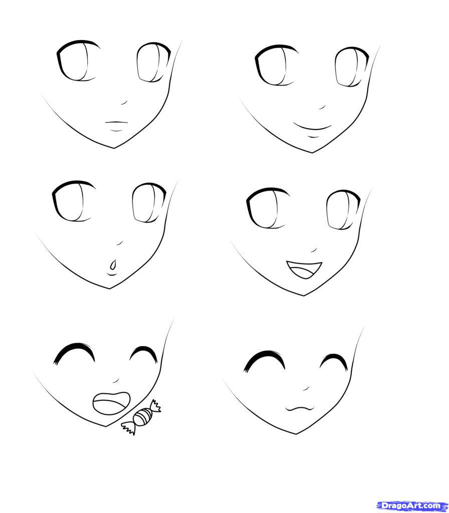 Easy To Draw Anime Faces 1000 Images About Manga Mouths On