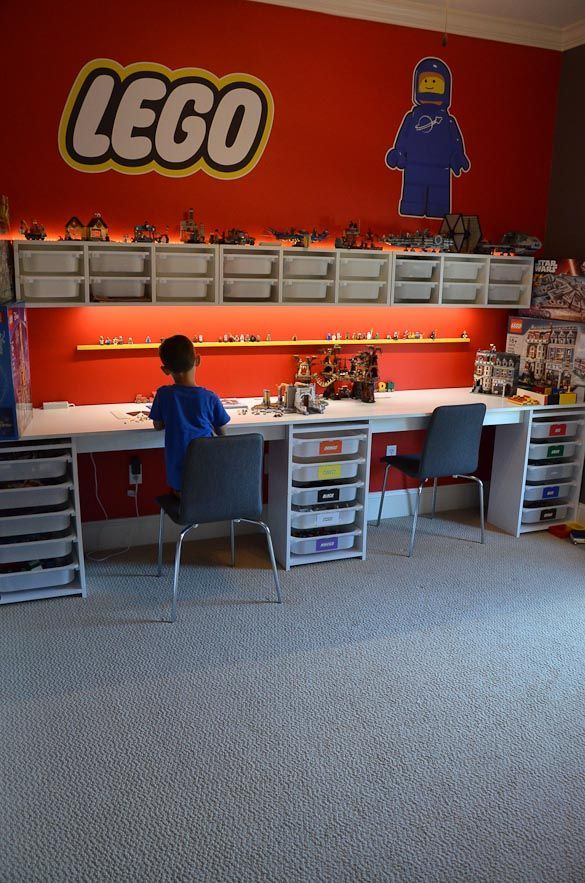 Lego room and lego desk a step by step on how to design for How to design a room