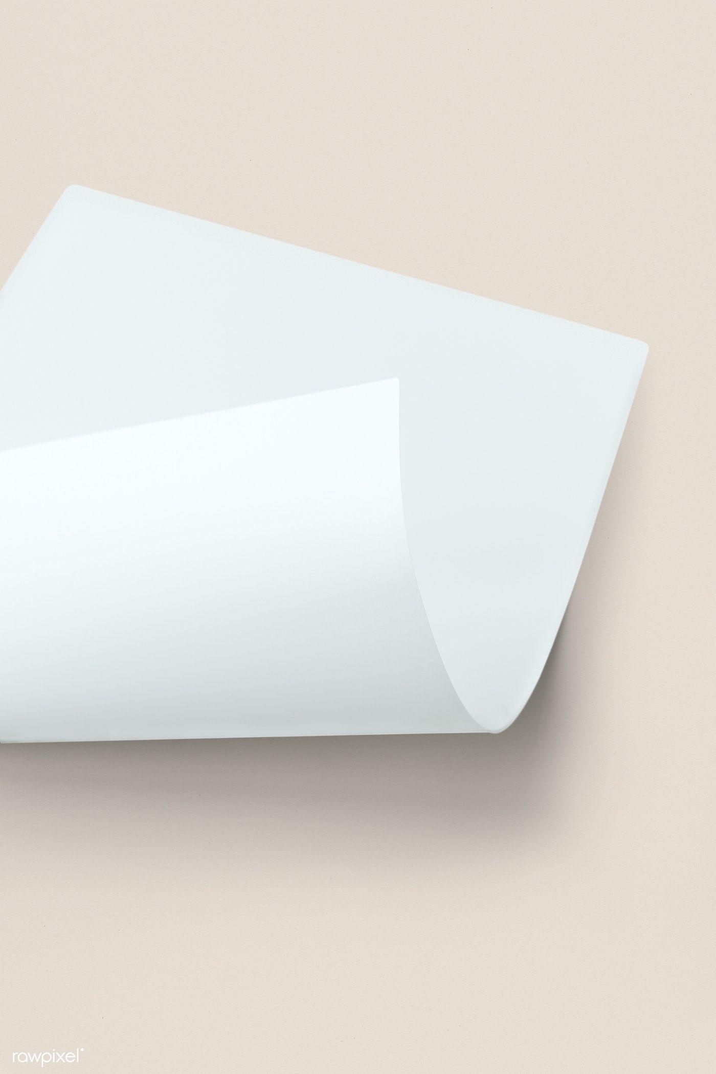 Blank White Folded Paper Mockup On A Beige Background Free Image By Rawpixel Com Ake Beige Background Paper Mockup Backdrops Backgrounds