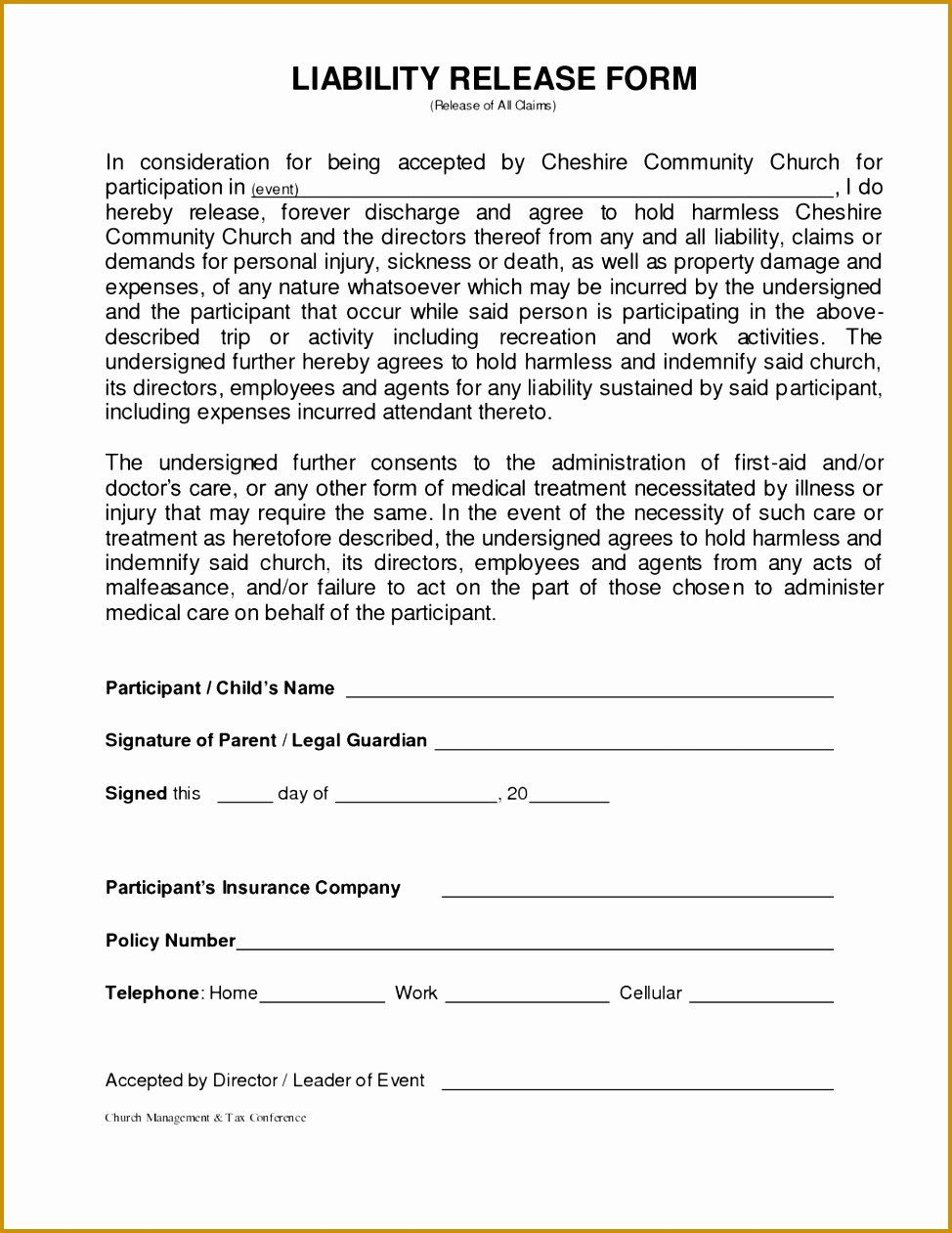 Standard Media Release Form Template Lovely 5 Standard Model Release Form Template Liability Waiver Templates General Liability