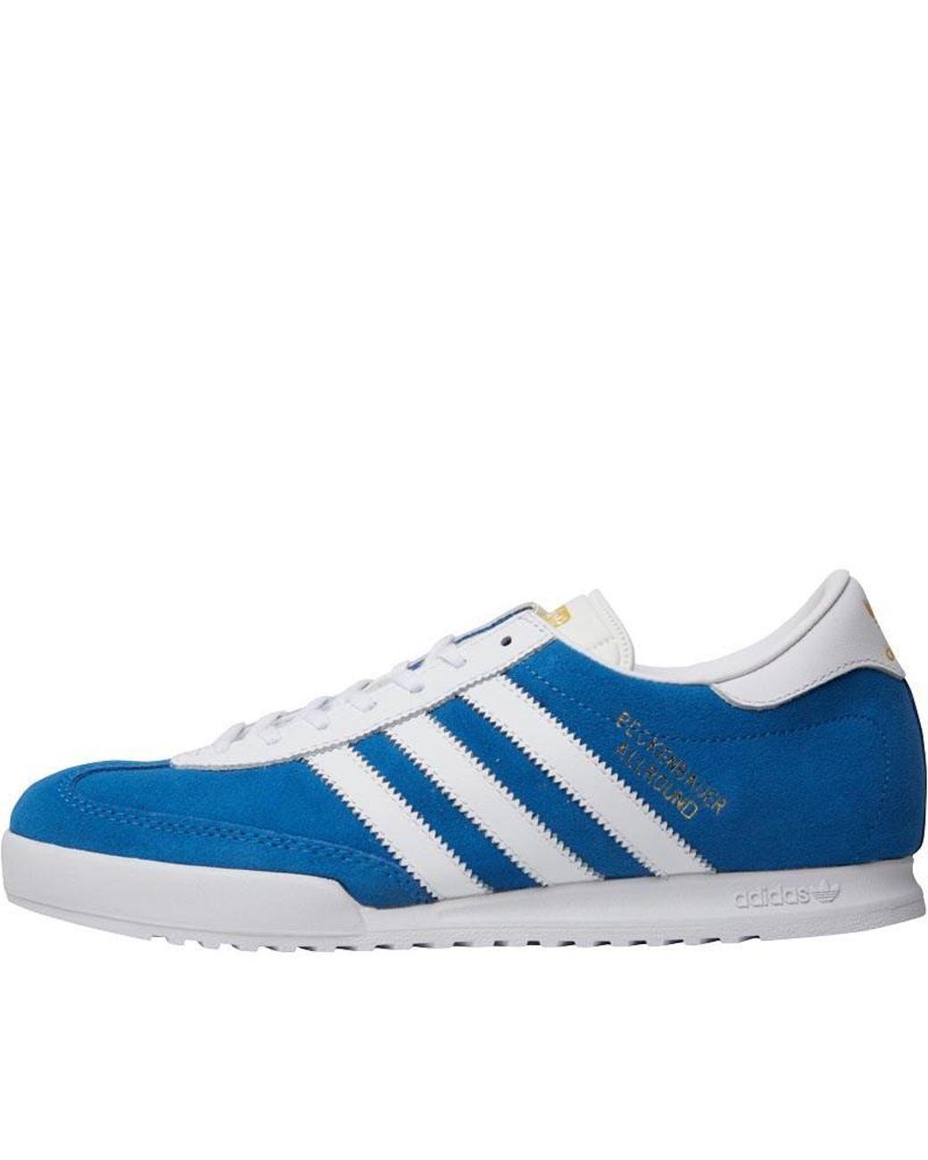 official photos 26f23 0fe04 Adidas Originals - Beckenbauer All Round Trainers Bluebird white metallic  Gold for Men -