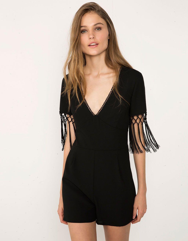 Jumpsuit Bershka met glitterfranjes - Dressy Night Collection - Bershka Netherlands