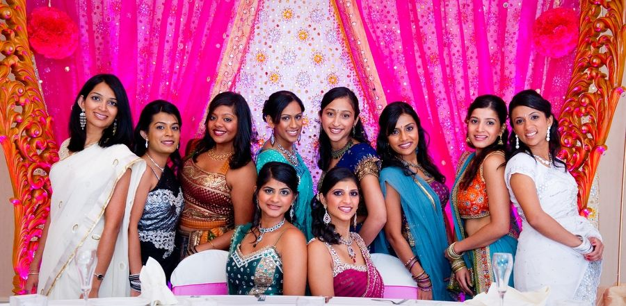 Indian bridal party. Image courtesy of Best Photog. Discover more Indian Bridal Party inspiration at www.shaadibelles.com #weddings #southasian #shaadibelles #bridemaids
