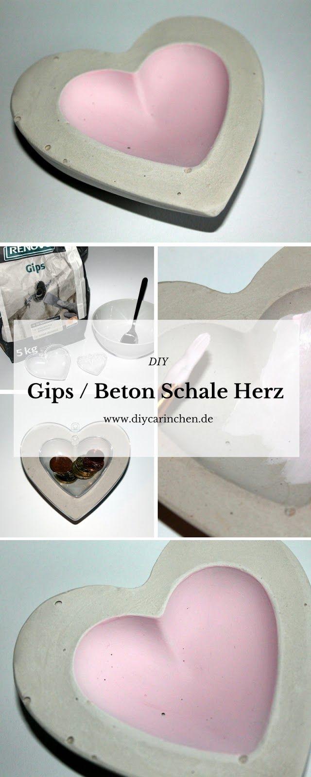 DIY Gips / Beton Schale Herz | Liebesgeschenke, Muttertagsgeschenke ...