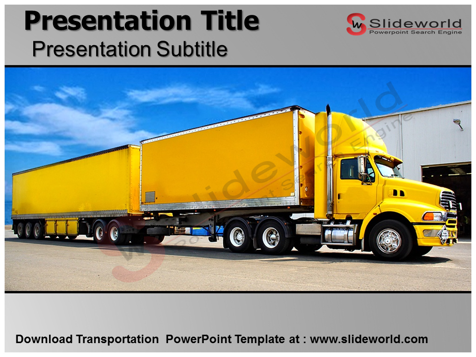 Get Powerpoint Template on transportation Theme Download