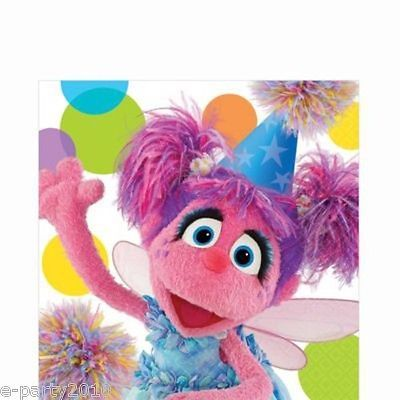 #Sesame street party #large napkins (16) ~ abby cadabby #birthday supplies polkad,  View more on the LINK: 	http://www.zeppy.io/product/gb/2/231302954835/