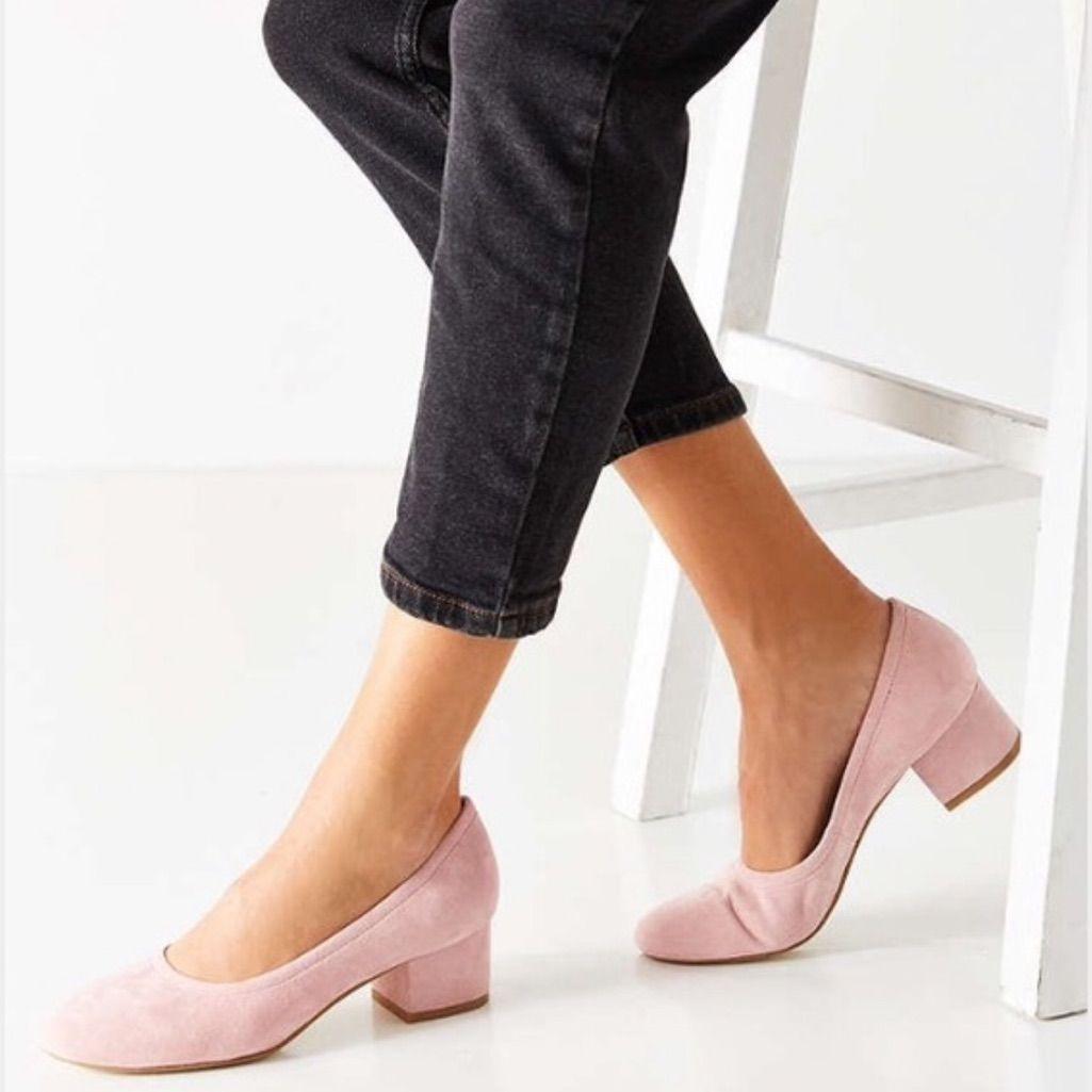 Jeffrey Campbell Shoes Price Light Pink Suede Block Heel