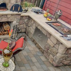 Charcoal Grill With Ice Chest For Beer Built In Pizza Oven Outdoor Brick Bbq Built In Charcoal Grill