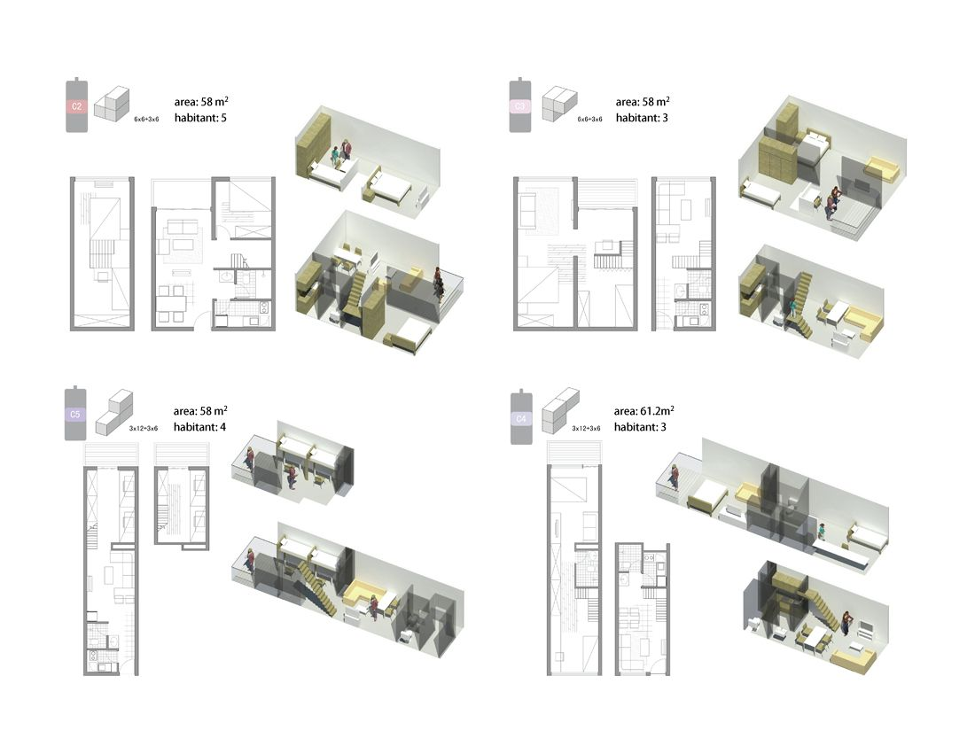 Gallery Of Affordable Housing Proposal Fcha 9 Affordable Housing Architecture Painting Floor Plans