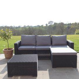 Tesco Direct Allibert California Corner Sofa Table Graphite Garden Sofa Set Corner Sofa Table Rattan Garden Furniture