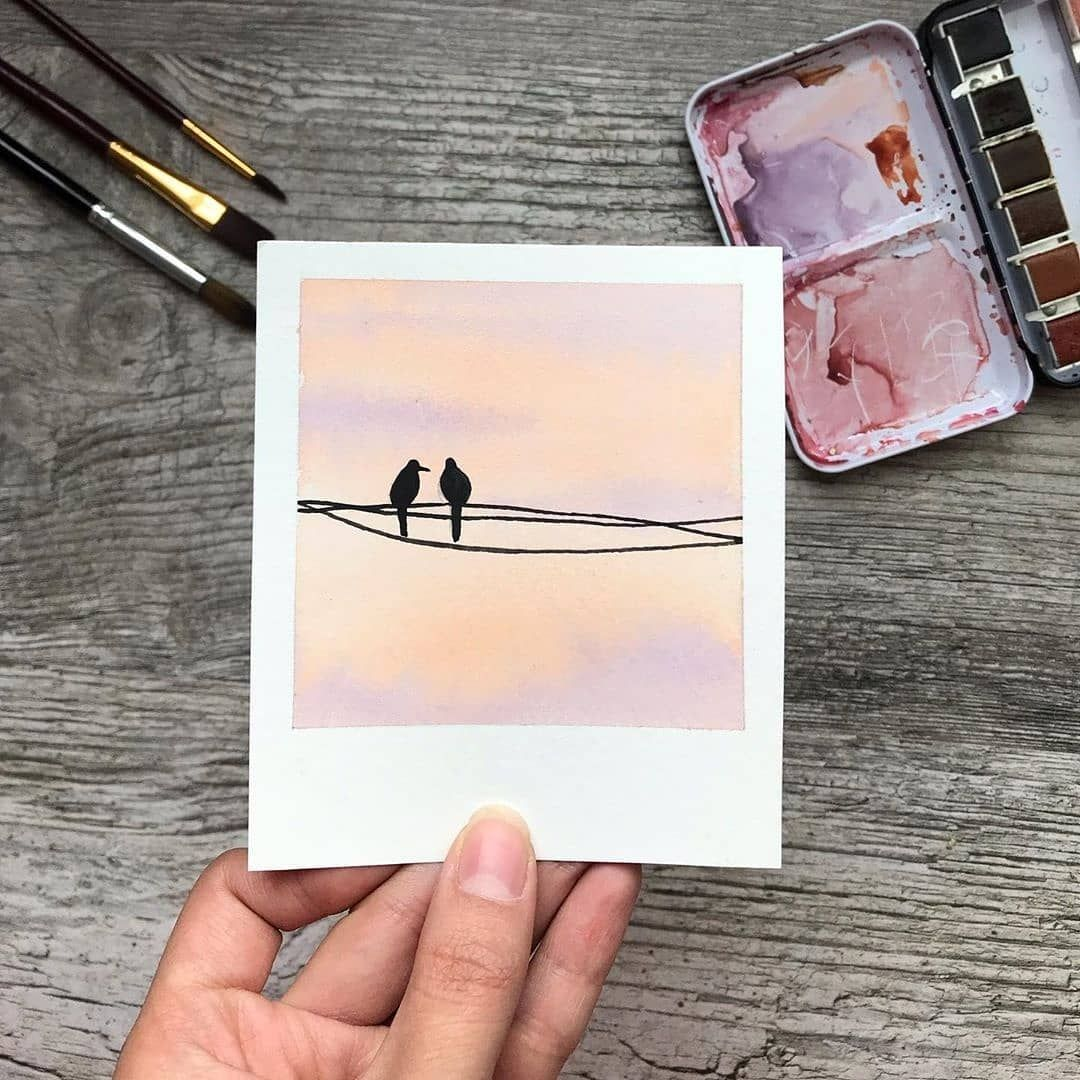 "Watercolor Aquarelle Акварель on Instagram: ""Artist @sihamartoua #watercolor_daily"""