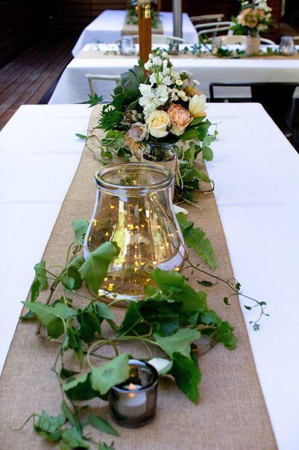 Naomi Rose Floral Design Melbourne Wedding Burlap Table