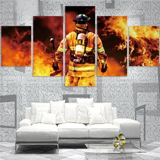 Firefighter Canvas Wall Art Print Painting Home Decor 50 Off Discount Plus Us Free Shipping Hurry Offe Abstract Canvas Wall Art Wall Canvas Wall Art Prints