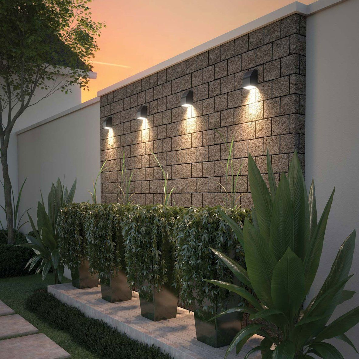 Neutrino Outdoor Wall Light Outdoor Gardens Design Garden Lighting Design Outdoor Garden Lighting