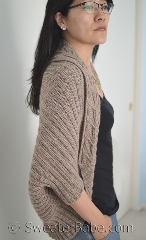 5335a8d3434ac PDF Knitting Pattern for Tabitha Cocoon Cardigan from SweaterBabe.com