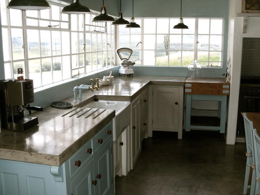 Cornish Küchen ~ Polished cement counter top polished concrete cornwall kitchen