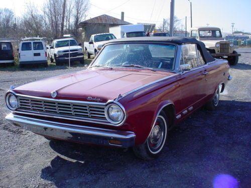 1965 Dodge Dart Slant 6 1965 Dodge Dart Convertible 4 Speed