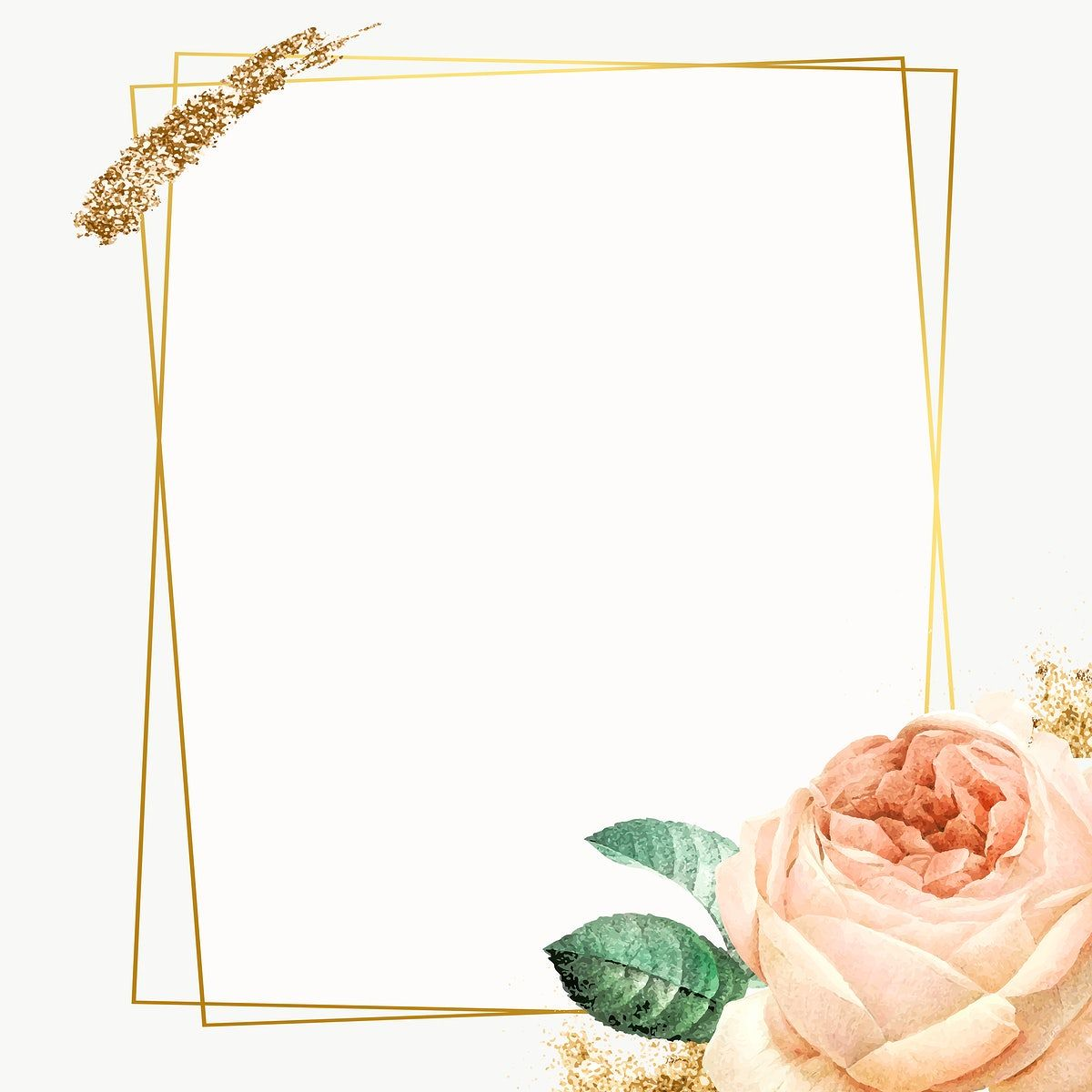 Pink Cabbage Rose Pattern On A Gold Frame Design Element Free Image By Rawpixel Com Nunny Frame Design Frame Gold Frame