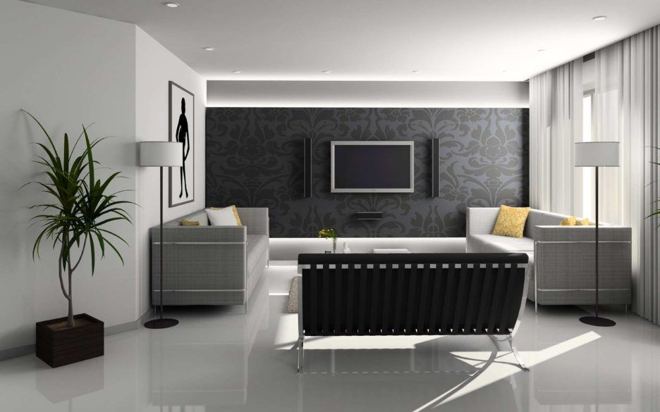 Living Room Design Concepts Prepossessing Living Room Design Concept Comes With Dark Gray Sofas And Cream Design Inspiration