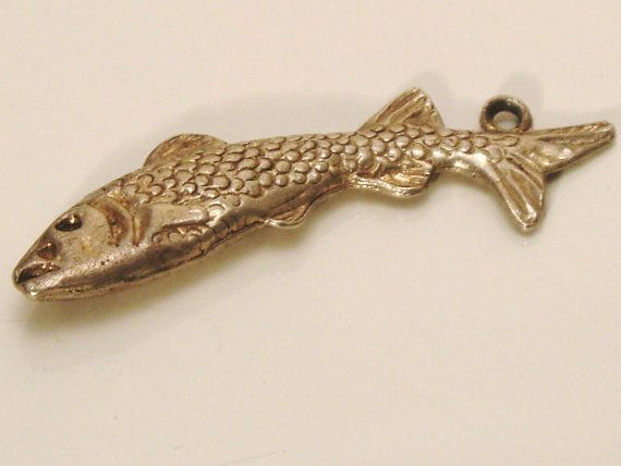 Vintage Sterling Silver Moving Fish / Trout / by JulesJewellers