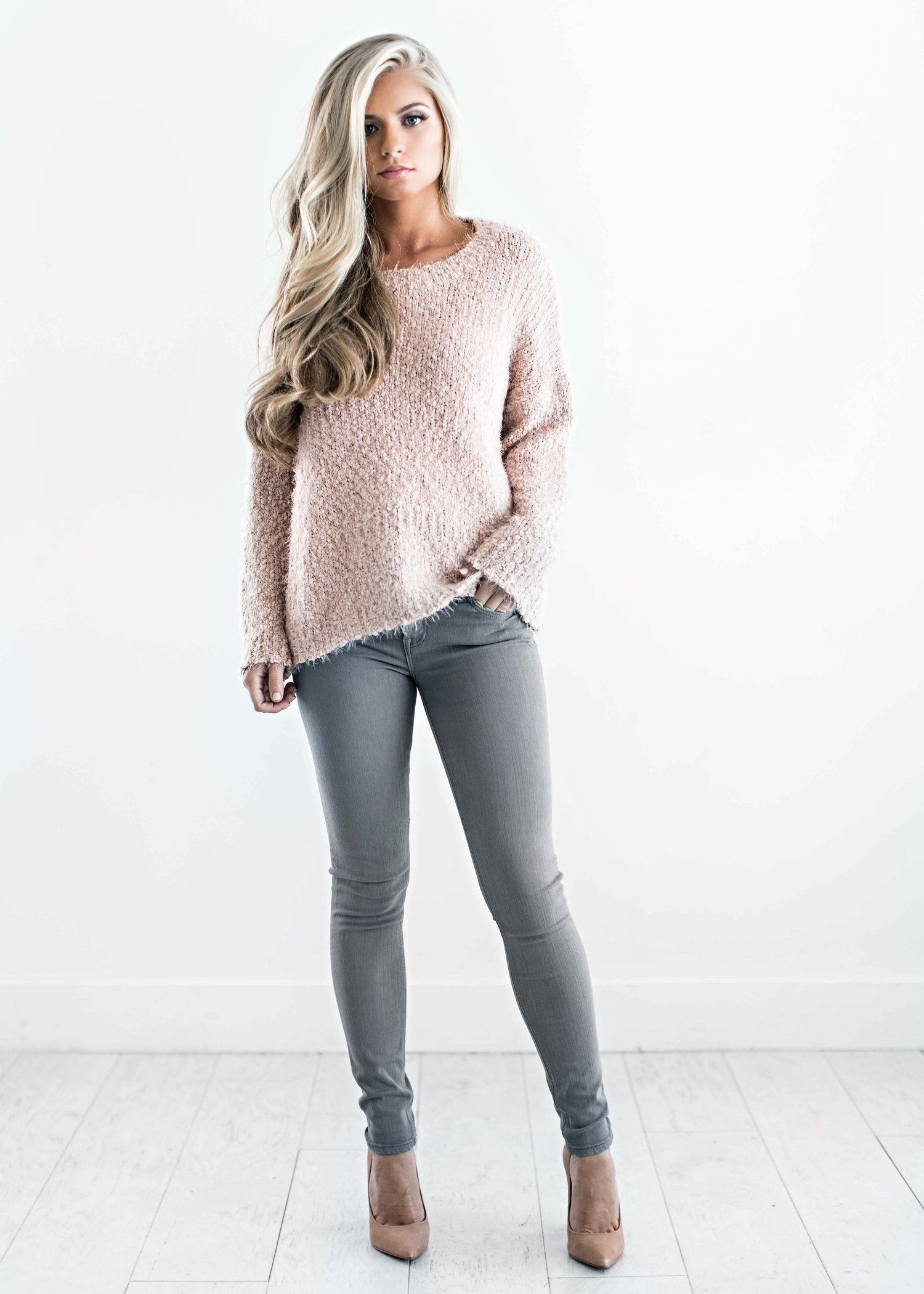 sweaters, blush sweater, fall fashion, womens fashion, shop ...