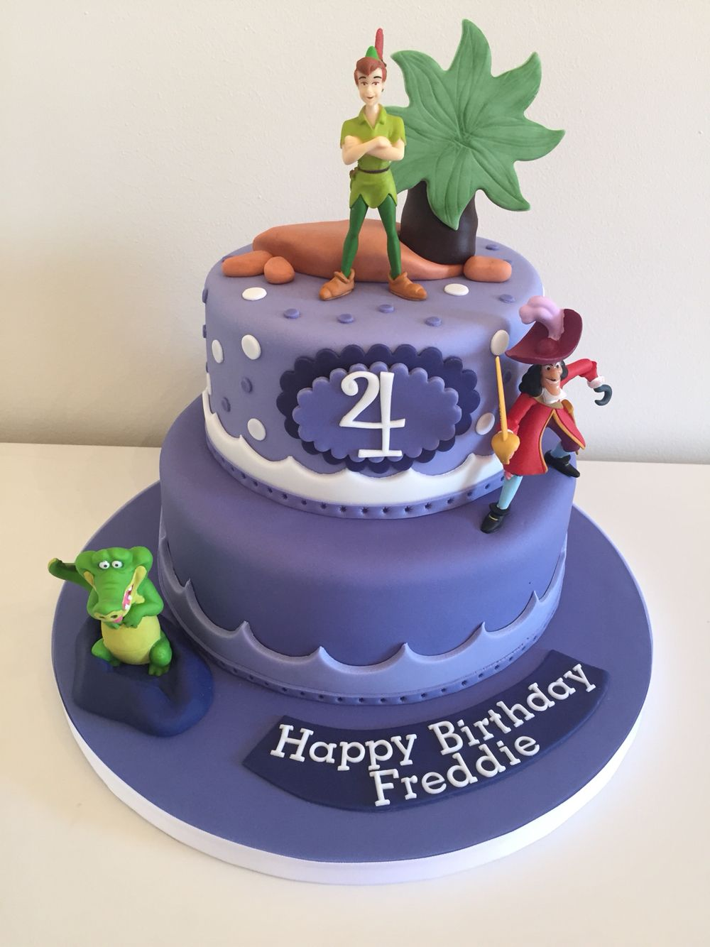 Tremendous Captain Hook Peter Pan And Tick Took Themed Kiddies Cake X With Personalised Birthday Cards Arneslily Jamesorg